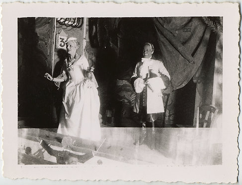 WONDERFUL THEATRICAL DOUBLE EXPOSURE ACTORS in PERIOD COSTUME & CONDUCTOR in PIT