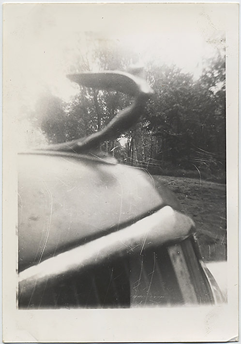 STUNNING ABSTRACT IMPRESSIONISTIC HOOD ORNAMENT VINTAGE CAR WINGED BUSTY BEAUTY