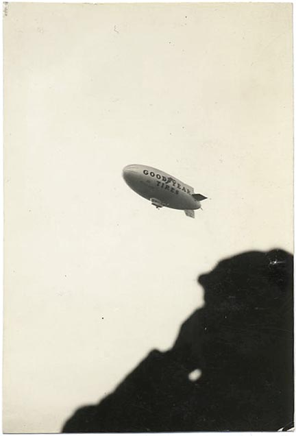 fp1410 (Goodyear dirigible and silhouette)