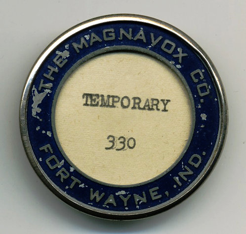 MAGNAVOX temporary PHOTO ID BADGE w NO PHOTO!