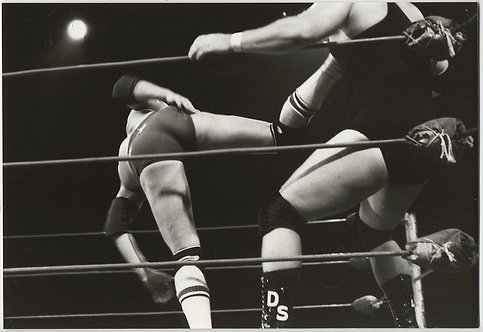 ALL LEGS and ASS! WWF WRESTLERS FIGHTERS KICK PRESSED against ROPES