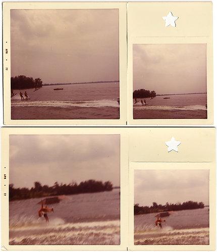STRANGE BONUS PICS w PUNCHED STAR WATERSKIERS PRO WATER SKIING
