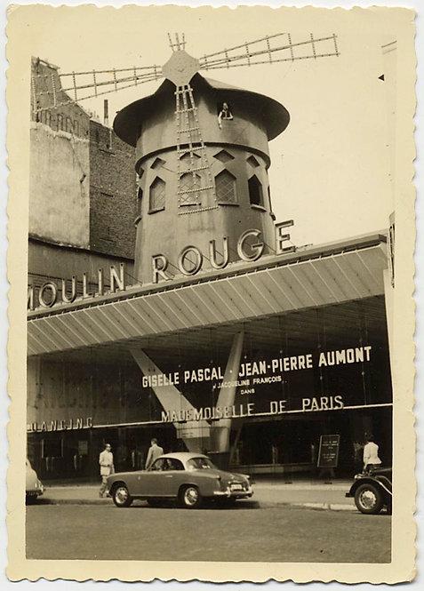 MOULIN ROUGE NIGHTCLUB Giselle PASCAL Jean-Piere AUMONT Mlle de PARIS!