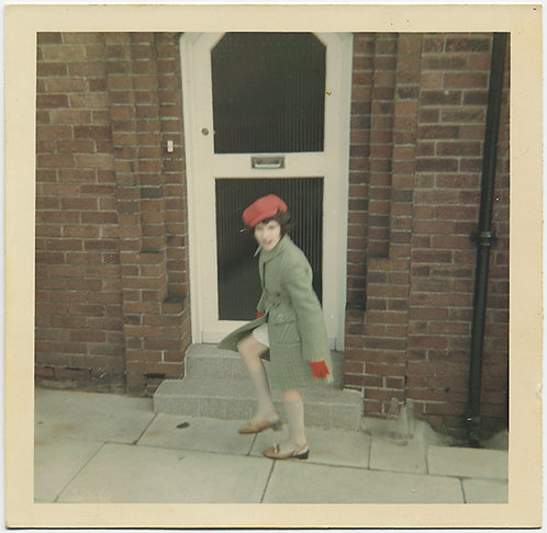 LITTLE GIRL in RED HAT and GLOVES STUDY in COLOR and MONOCHROME
