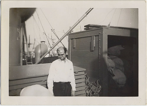 VERY STRANGE MAN on BOARD SHIP with ODD FACE EXPRESSION
