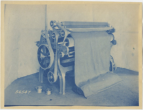 LOVELY CYANOTYPE INDUSTRIAL of MACHINE in MINT CONDITION