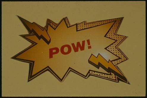 POW!  CARTOON POW!  35mm SLIDE