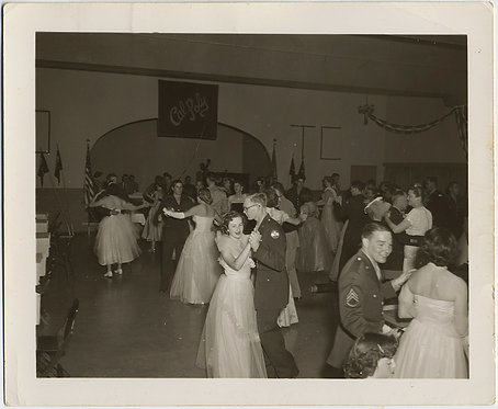 CAL POLY FORMAL DANCE w SERVICEMEN and ELEGANT WOMEN in TULLE & GLOVES