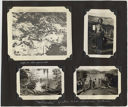 EXTRAORIDINARY ALBUM PAGE WWII DUTCH GUINEA DEAD JAPANESE PACIFIC NATIVES WAR