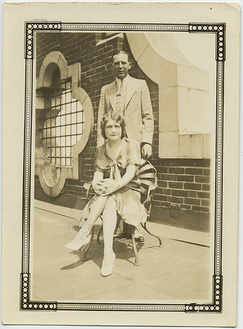20's FLAPPER COUPLE: great BACKGROUND & BORDER
