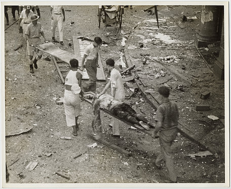 EXTRAORDINARY WOUNDED on NANKING NANJIN ROAD BOMBARDMENT CHINESE JAPAN WAR DEAD