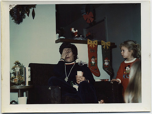 TOO MUCH XMAS ALREADY! WOMAN in EXTREMIS & AGGRESSIVE CHILD WANTS MORE! POLAROID