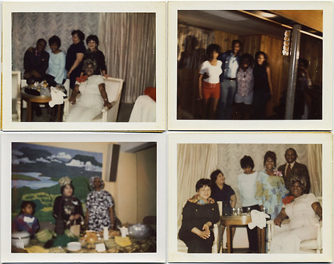 FOUR OUT of FOCUS POLAROIDS! GATHERINGS of AFRICAN-AMERICAN GROUPS!