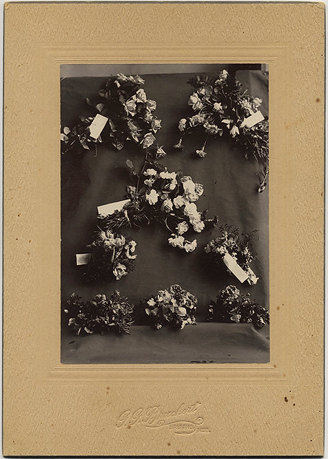 GORGEOUS DISPLAY of NEBRASKA FLORIST'S BOUQUET OPTIONS! CABINET CARD