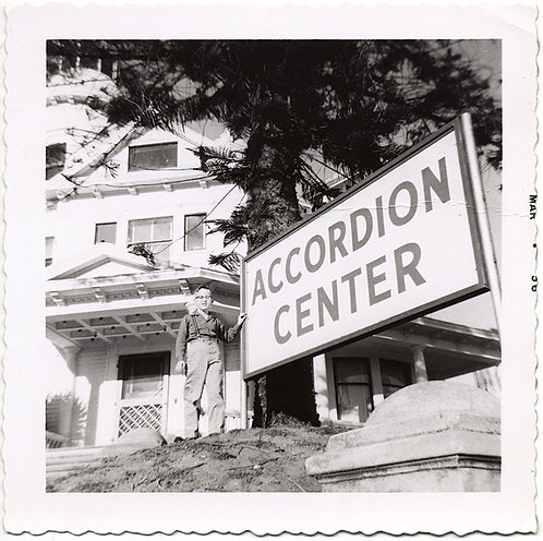 FABULOUS BOY STANDS by HUGE ACCORDION CENTER SIGN