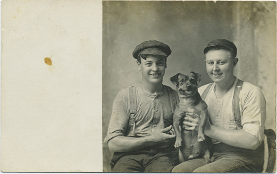 fp2335(RPPC_TwoYouth_Dog_Seated)