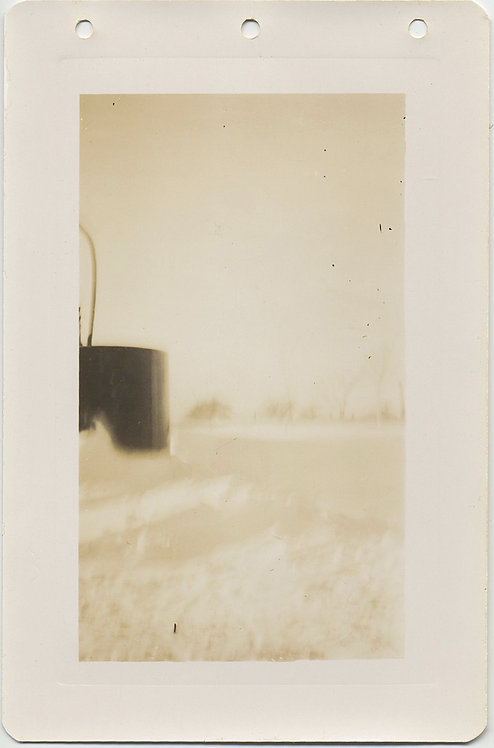 GORGEOUS POETIC ABSTRACT FUEL? STORAGE TANK in SNOW LANDSCAPE