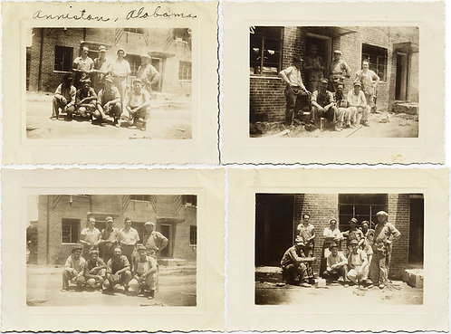BLUE COLLAR BEAUTY GROUP of WORKERS in 4 pics ANNISTON ALABAMA
