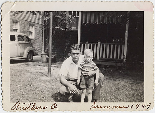 Bob and Jeff UNHAPPY KID and DAD in the SUMMER of 1949