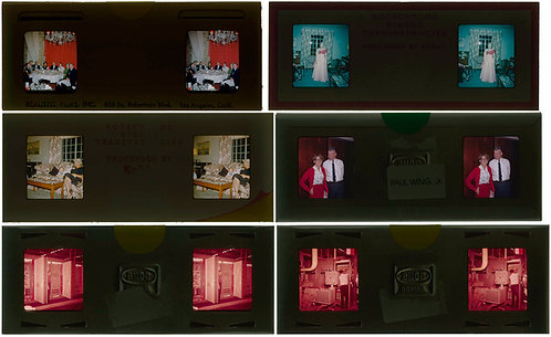 6 VINTAGE REALIST STEREO 3D STEREOSCOPIC SLIDES PEOPLE INDUSTRIAL & MORE