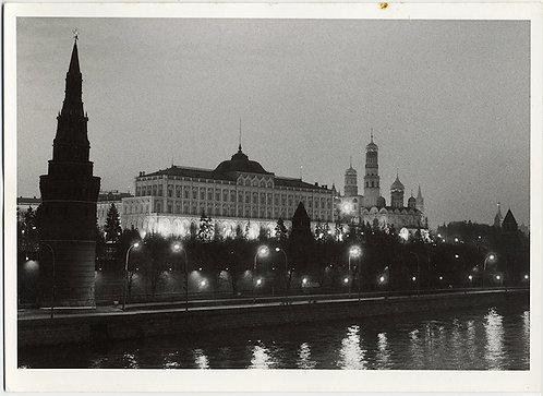HORST SCHMECK KREMLIN MOSCOW by NIGHT SOVIET RUSSIA USSR