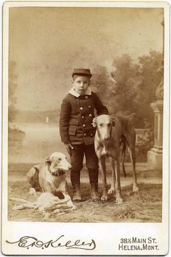 fp1676 (boy-dogs-hare)