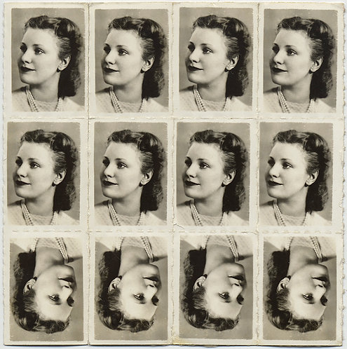 FABULOUS SHEET of PHOTO STAMPS YOUNG PRETTY GIRL