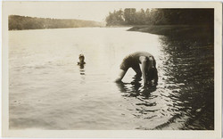 fp0111(Swimmers_BentOverInLake)