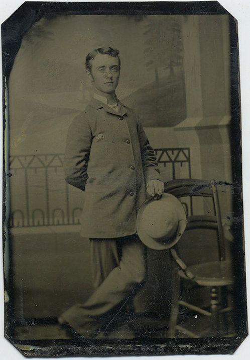 CASUAL MAN WITH HAT in Studio Tintype!