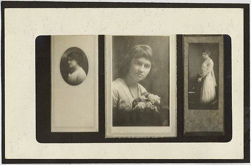 VERY UNUSUAL RARE PHOTO of PHOTO STUDIO PORTARITS fo PRETTY ELEGANT WOMEN