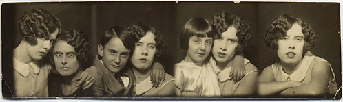 PING PONG PHOTO STRIP PHOTOBOOTH ID'd WOMAN w BOY and GIRL and MOTHER