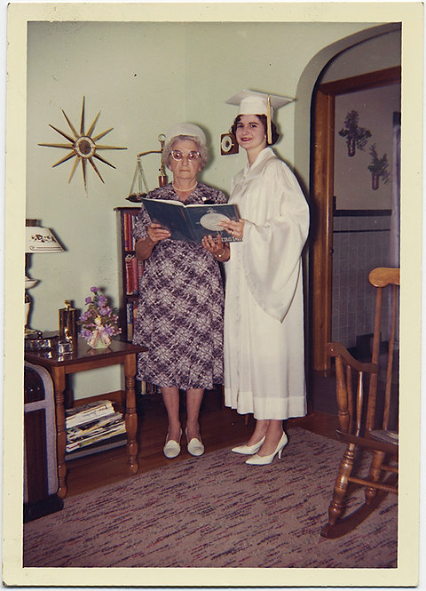 GREAT GRADUATE and STERN GRANDMOTHER with STARBURST CLOCK!