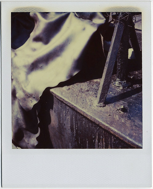 STRANGE WEIRD METAL and LEATHER? ABSTRACT INDUSTRIAL POLAROID