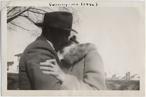 STUNNING LIP LOCK PASSIONATE KISS COUPLE in HAT & FUR Franny & Me 1946