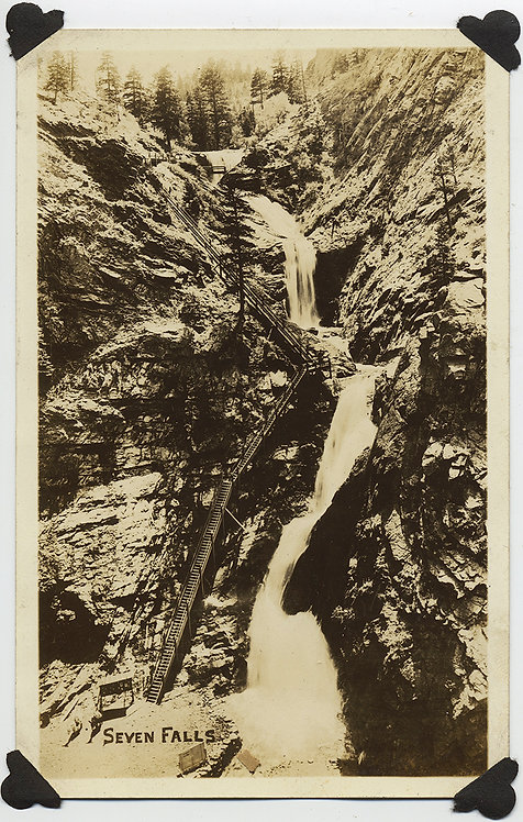 BROADMOOR SEVEN FALLS RPPC South Cheyenne Cañon, Colorado Springs, CO WATERFALL