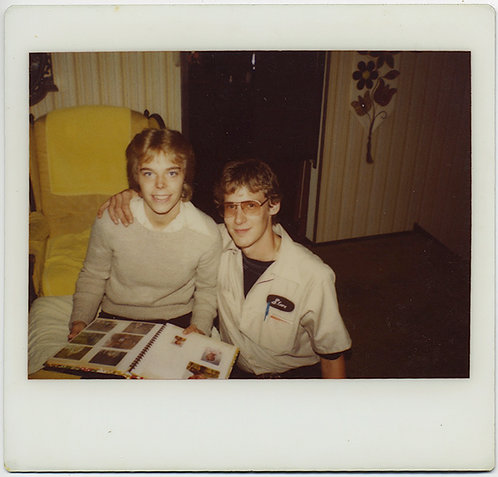 KODAK INSTANT CAMERA (polaroid)!  TWO HANDSOME BOYS and PHOTO ALBUM!