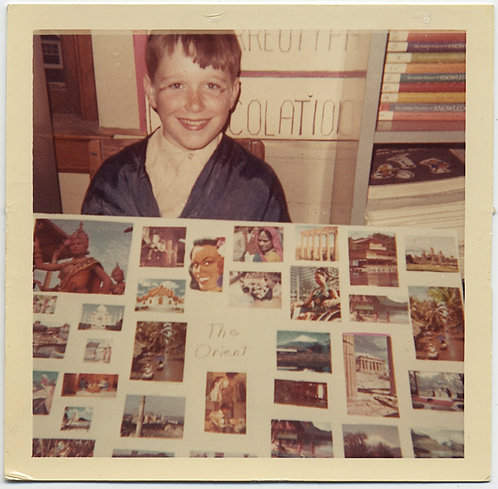 """""""The Orient"""" YOUNG BOY PROUDLY POSES with POLITICALLY SUSPECT CLASS PROJECT"""