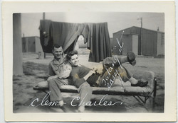 fp6111(SoldiersOnBed_MilitaryCamp_Leisure_CaptionClemCharlesTakingItEasy)