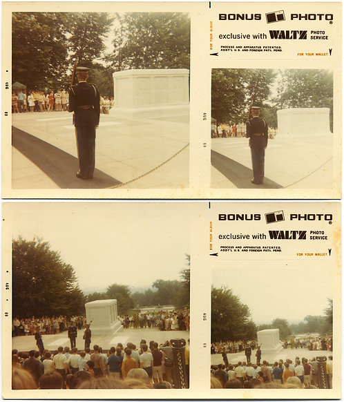 BONUS PHOTO DIPTYCH of GUARD & TOMB of the UNKNOWN SOLDIER