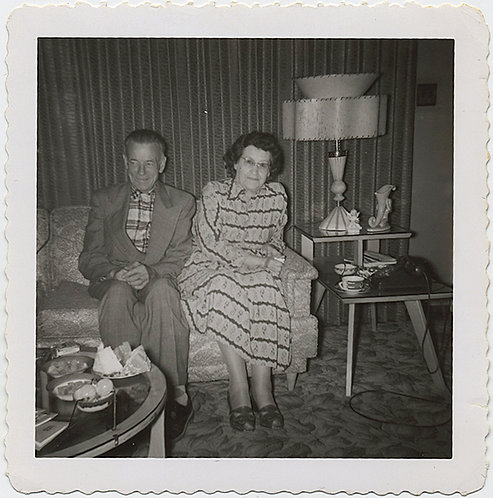 AWKWARD COUPLE in 70'S LIVING ROOM (GREAT LAMP!)