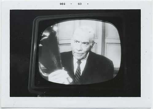 1960's TV TELEVISION SCREENSHOT ACTOR RAY COLLINS as Lt Arthur TRAGG PERRY MASON