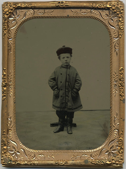 Gorgeous, Simple Quarter Plate Tintype of Child