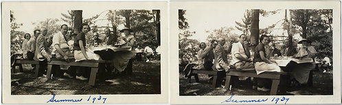 SUMMER GROUP PICNIC DIPTYCH! EATING and NOT EATING GROUP 1937