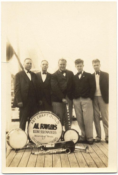 UNIV of ILLINOIS BAND Al Fowler's ILLINI SERENADERS Art Craft Guild 1928 GROUP