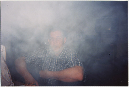 In the FOG and SMOKE of...? MAN LOST in the MIST FOG SMOKE!
