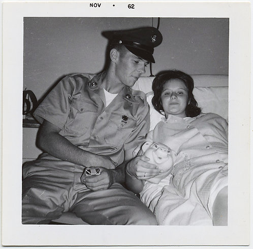 HANDSOME SERVICEMAN w PACK of CIGARETTES & WANDERING EYE VISITS WIFE in BED