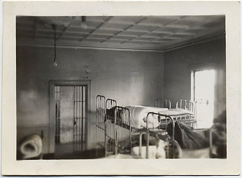 HAUNTING EMPTY CELL or MENTAL INSTITUTION DORMITORY w BARRED DOORS