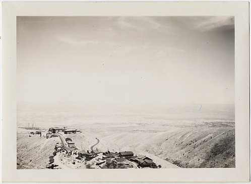 BARREN HILLS DESERT LANDSCAPE w COPPER MINING TOWN Jerome ARIZONA