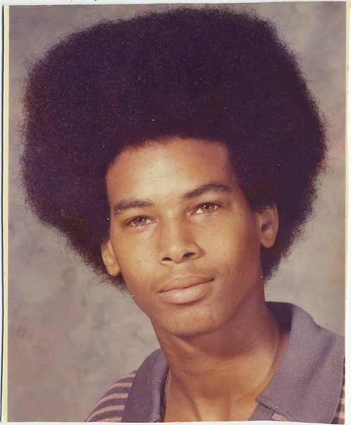 FABULOUS PORTRAIT AFRICAN AMERICAN YOUNG MAN w AFRO QUIZZICAL BEMUSED LOOK