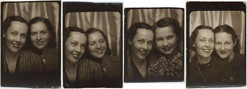 FOUR FABULOUS PHOTOBOOTHS INTIMATE AFFECTIONATE WOMEN TOGETHER SMILING LOVELY